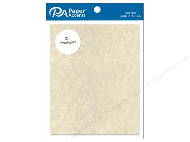 Paper Accents 4 1/4 x 5 1/2 in. Envelopes 25 pc. #203 Parchment Natural