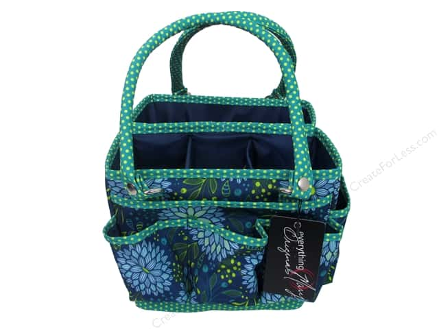 Everything Mary Fold Open Organizer Navy & Teal