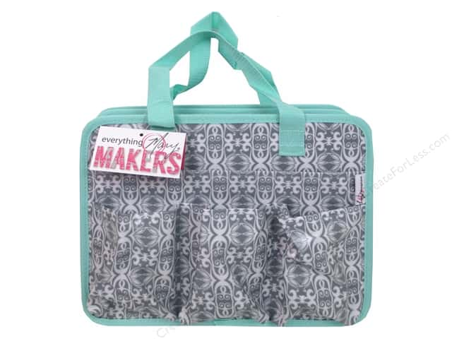 Everything Mary Makers Carry All Tote Grey & Green