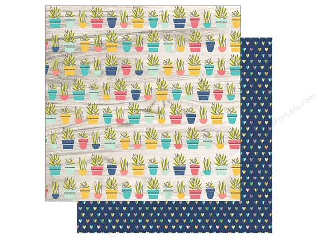 "Simple Stories Collection Domestic Bliss Paper 12""x 12"" Hello Life (25 pieces)"