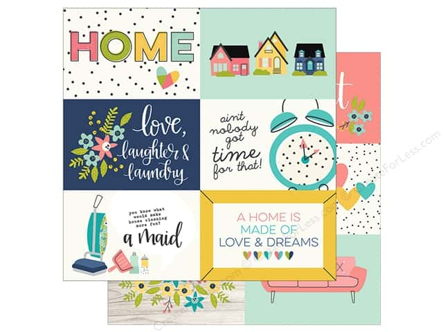 "Simple Stories Collection Domestic Bliss Paper 12""x 12"" Elements Horizontal 4""x 6"""