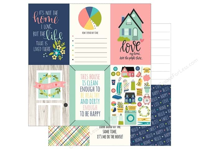 "Simple Stories Collection Domestic Bliss Paper 12""x 12"" Elements Vertical 4""x 6"""