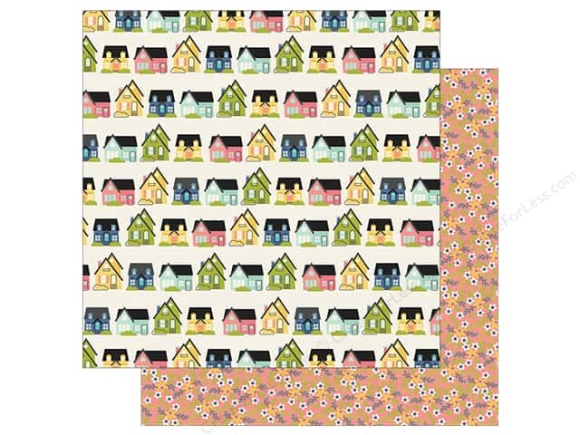 "Simple Stories Collection Domestic Bliss Paper 12""x 12"" Home Sweet Home"