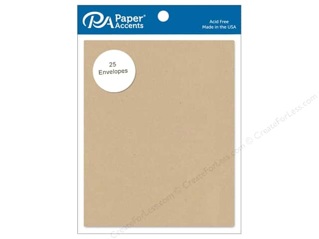 Paper Accents 4 1/4 x 5 1/2 in. Envelopes 25 pc. Brown Bag