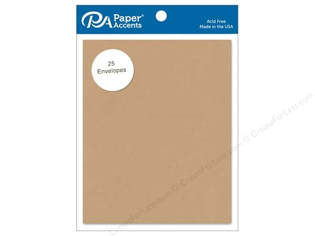Paper Accents 4 1/4 x 5 1/2 in. Envelopes 25 pc. #304 Kraft