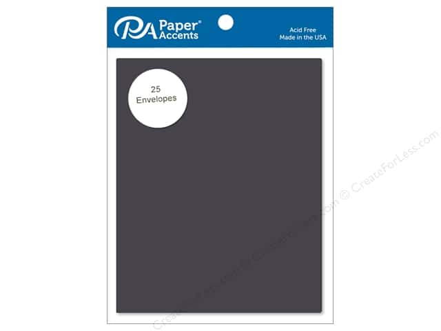 Paper Accents 4 1/4 x 5 1/2 in. Envelopes 25 pc. #71 Dusty Black