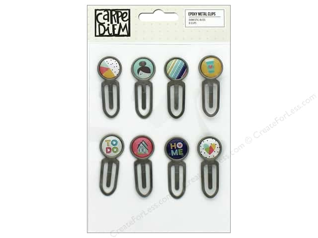 Simple Stories Collection Domestic Bliss Carpe Diem Epoxy Metal Clips
