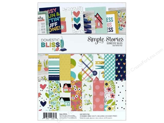 "Simple Stories Collection Domestic Bliss Paper Pad 6""x 8"""