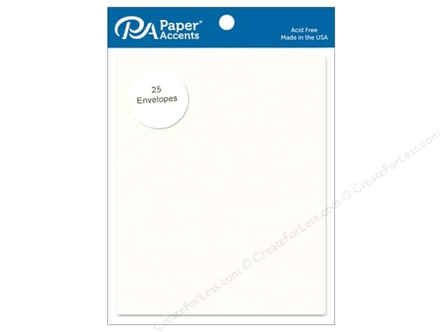 Paper Accents 4 1/4 x 5 1/2 in. Envelopes 25 pc. Linen White