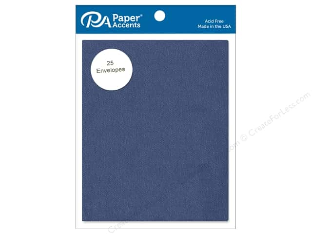Paper Accents 4 1/4 x 5 1/2 in. Envelopes 25 pc. #756 Blue Jeans