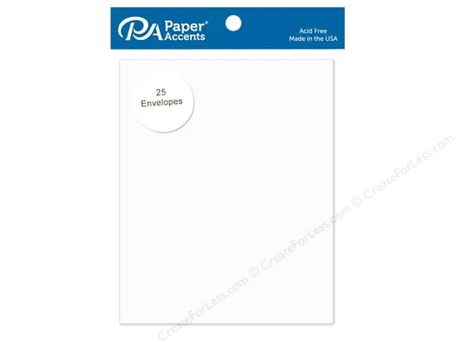 Paper Accents 4 1/4 x 5 1/2 in. Envelopes 25 pc. #72 Dusty White