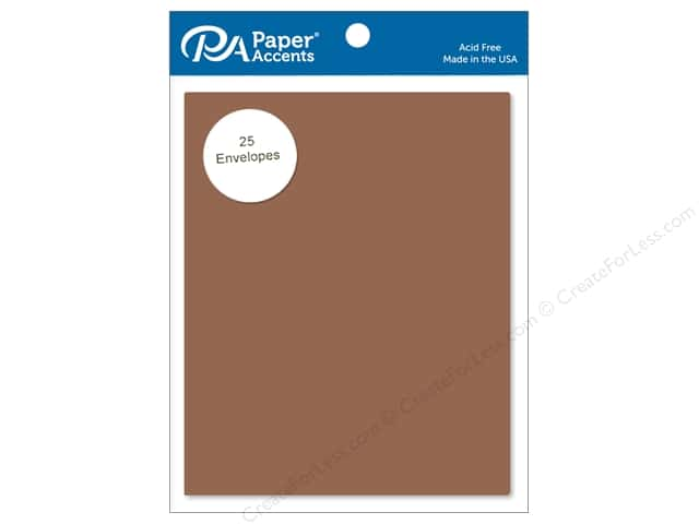 Paper Accents 4 1/4 x 5 1/2 in. Envelopes 25 pc. #74 Dusty Brown