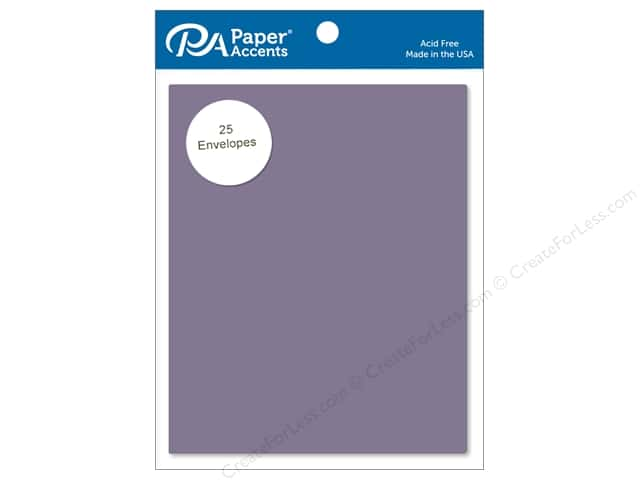 Paper Accents 4 1/4 x 5 1/2 in. Envelopes 25 pc. #78 Dusty Purple