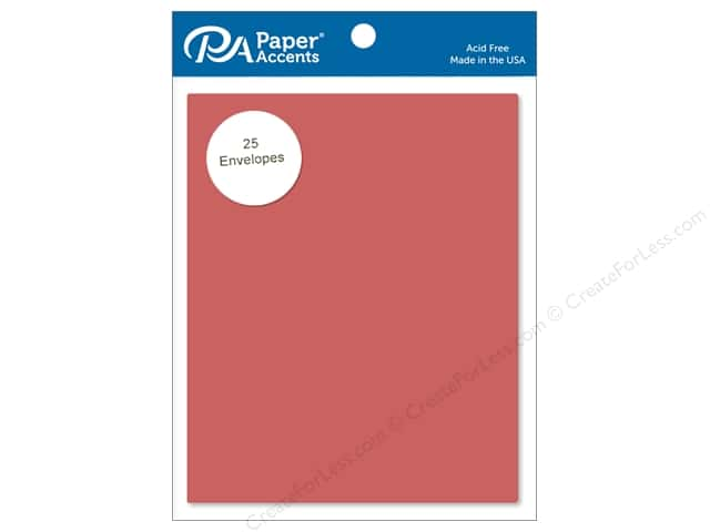 Paper Accents 4 1/4 x 5 1/2 in. Envelopes 25 pc. #80 Dusty Red