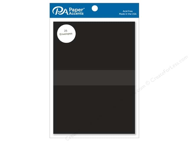 Paper Accents 5 x 7 in. Envelopes 25 pc. #127 Black