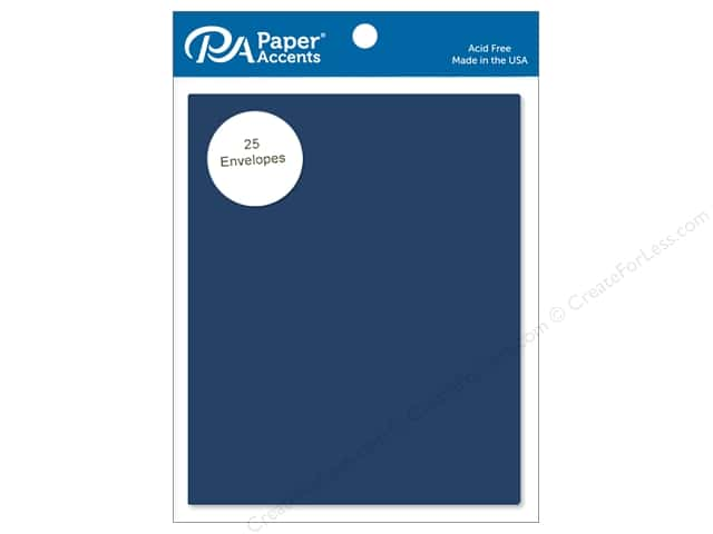 Paper Accents 4 1/4 x 5 1/2 in. Envelopes 25 pc. #92 Adriatic Blue