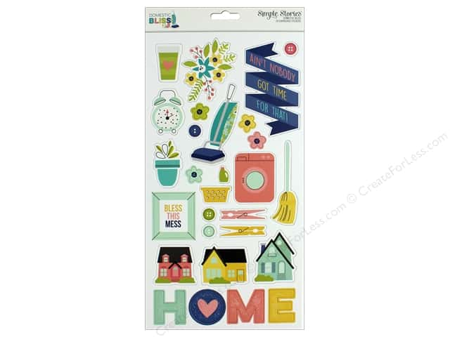 "Simple Stories Collection Domestic Bliss Chipboard 6""x 12"""
