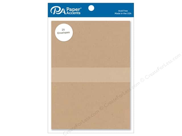 Paper Accents 5 x 7 in. Envelopes 25 pc. Kraft