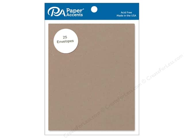 Paper Accents 4 1/4  x 5 1/2 in. Envelopes 25 pc. #364 Russet