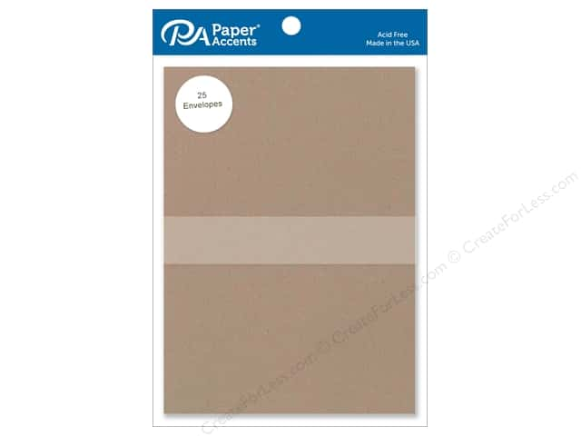 Paper Accents 5 x 7 in. Envelopes 25 pc. #364 Russet