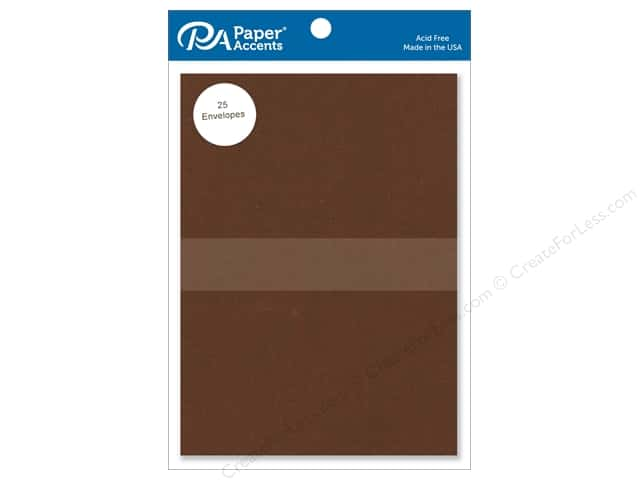 Paper Accents 5 x 7 in. Envelopes 25 pc. #365 Cocoa