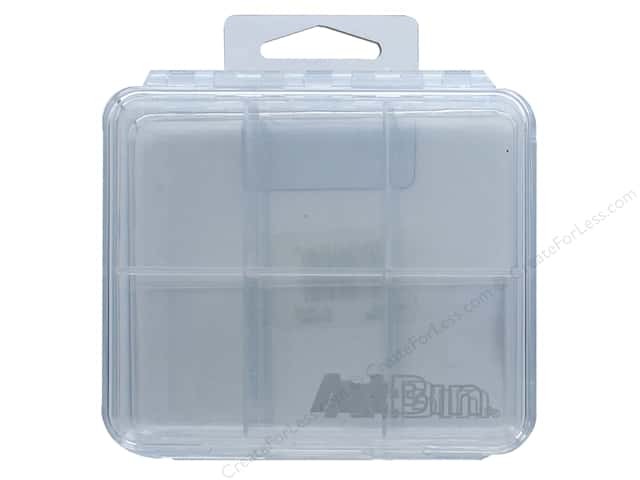 "ArtBin Slim Line Box 4""x 4"" 6 Compartment 2pc"