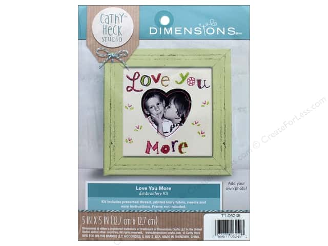 "Dimensions Embroidery Kit 5""x 5"" Cathy Heck Love You More"