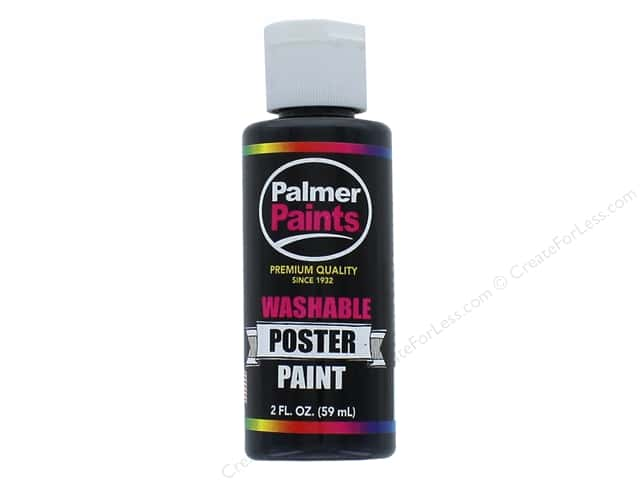 Palmer Washable Poster Paint 2 oz. Black