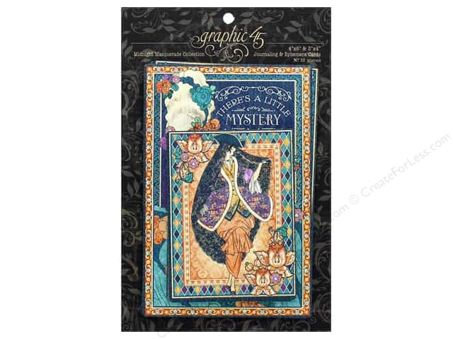 Graphic 45 Collection Midnight Masquerade Ephemera Cards