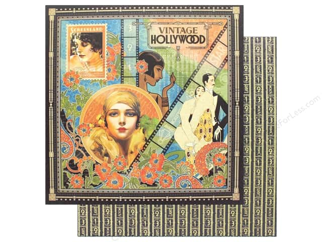 "Graphic 45 Collection Vintage Hollywood Paper 12""x 12"" (25 pieces)"