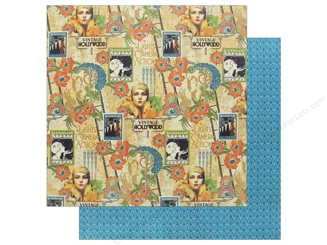 "Graphic 45 Collection Vintage Hollywood Paper 12""x 12"" Dazzling Diva (25 pieces)"