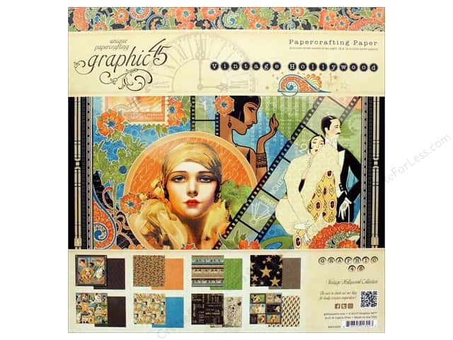 Graphic 45 Vintage Hollywood Paper Pad 12 in. x 12 in.