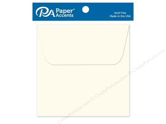 Paper Accents 3 x 3 in. Envelopes 10 pc. #119 Cream