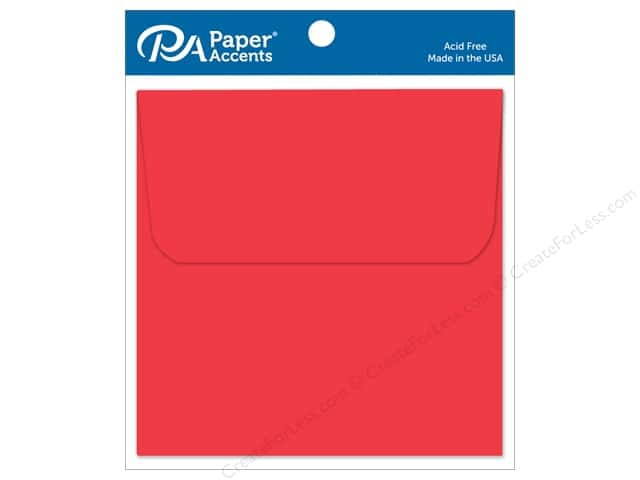 Paper Accents 6 1/2 x 6 1/2 in. Envelopes 10 pc. #101 Red