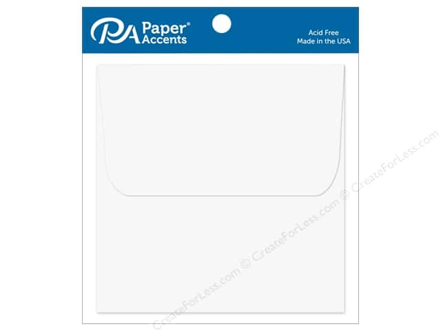 Paper Accents 5 1/2 x 5 1/2 in. Envelopes 12 pc. #128 White