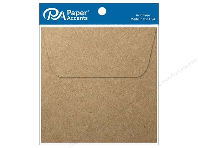 Paper Accents 4 1/2 x 4 1/2 in. Envelopes 8 pc. Brown Bag