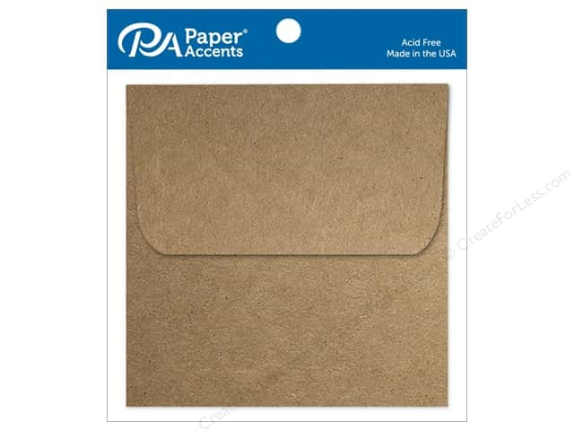 Paper Accents 5 1/2 x 5 1/2 in. Envelopes 8 pc. Brown Bag
