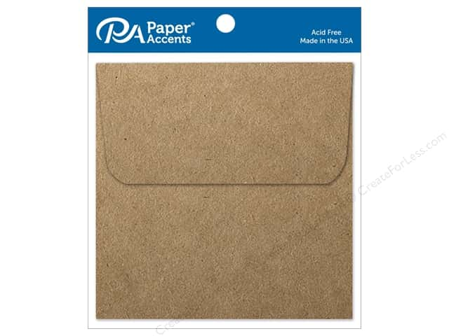Paper Accents 6 1/2 x 6 1/2 in. Envelopes 8 pc. Brown Bag