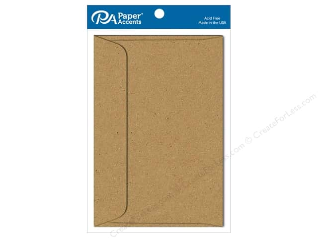 Paper Accents 6 x 9 in. Envelopes 10 pc. #357 Brown Bag