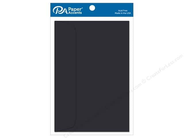 Paper Accents 6 x 9 in. Envelopes 10 pc. #127 Black