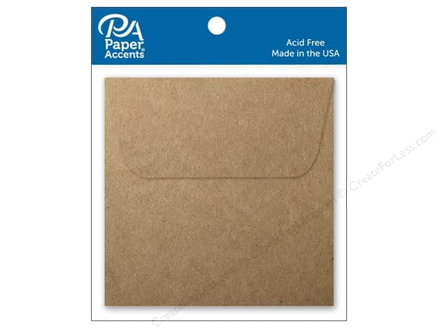 Paper Accents 2 1/4 x 2 1/4 in. Envelopes 15 pc. Brown Bag