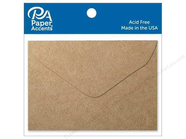 Paper Accents 1 3/4 x 2 3/8 in. Envelopes 15 pc. Brown Bag