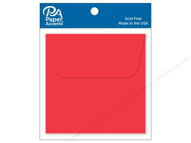 Paper Accents 2 1/4 x 2 1/4 in. Envelopes 15 pc. Red