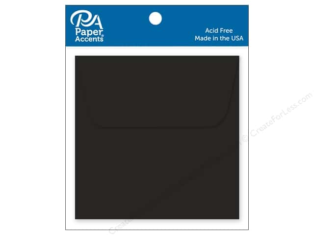 Paper Accents 2 1/4 x 2 1/4 in. Envelopes 15 pc. Black