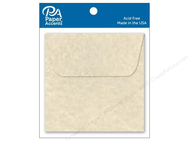 Paper Accents 2 1/4 x 2 1/4 in. Envelopes 15 pc. Aged Parchment