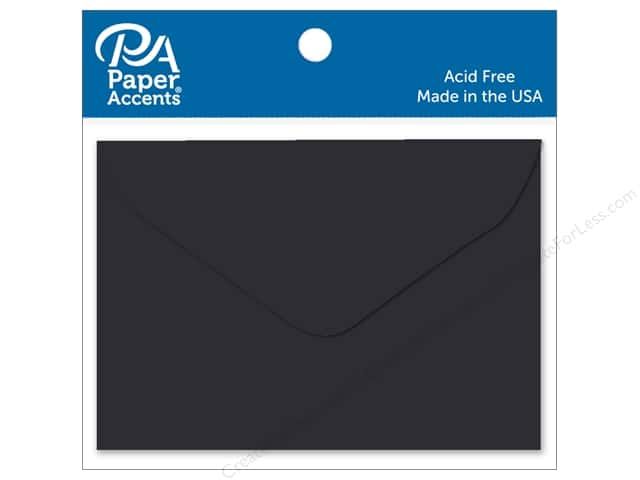 Paper Accents 1 3/4 x 2 3/8 in. Envelopes 15 pc. Black