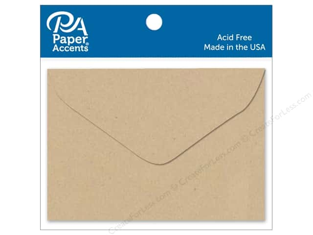 Paper Accents 1 3/4 x 2 3/8 in. Envelopes 15 pc. Kraft