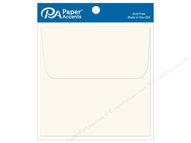 Paper Accents 6 1/2 x 6 1/2 in. Envelopes 12 pc. #119 Cream