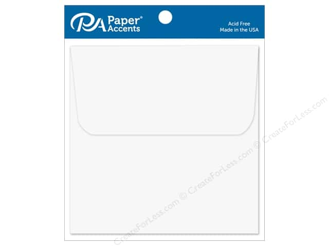 Paper Accents 6 1/2 x 6 1/2 in. Envelopes 12 pc. White