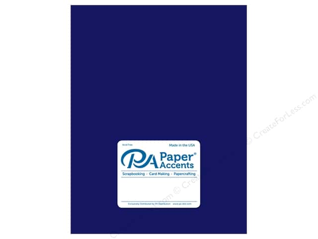 Paper Accents Cardstock 8 1/2 x 11 in. Ultra Matte Imperial Blue (25 sheets)